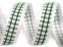wstążka w kratkę ozdobna zielona