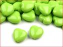 koraliki serduszka seledynowe 5 sztuk