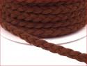 rzemyk pleciony z eko-skóry brązowy