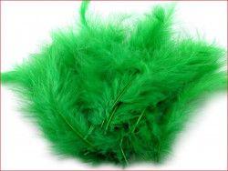 strusie pióra 12-17 cm zielone