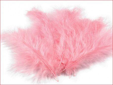 strusie pióra 12-17 cm różowe