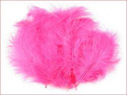 strusie pióra 12-17 cm różowe ciemne