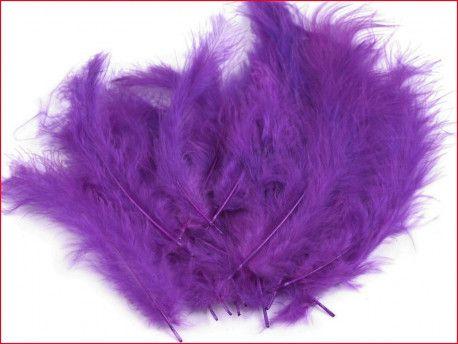 strusie pióra 12-17 cm fioletowe