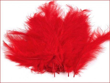 strusie pióra 12-17 cm czerwone