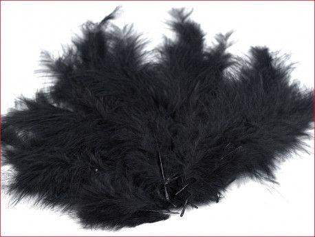 strusie pióra 12-17 cm czarne