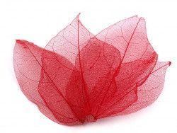 liście do dekoracji czerwone