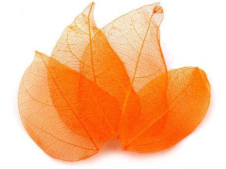 liście do dekoracji pomarańczowe