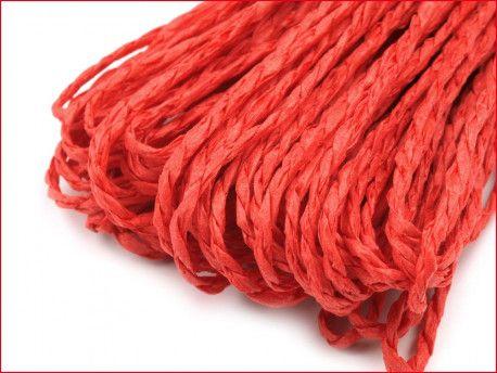 sznurek papierowy czerwony