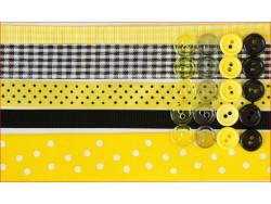 wstążki zestaw czarno-żółty