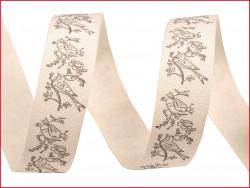 wstążka bawełniana PTAKI