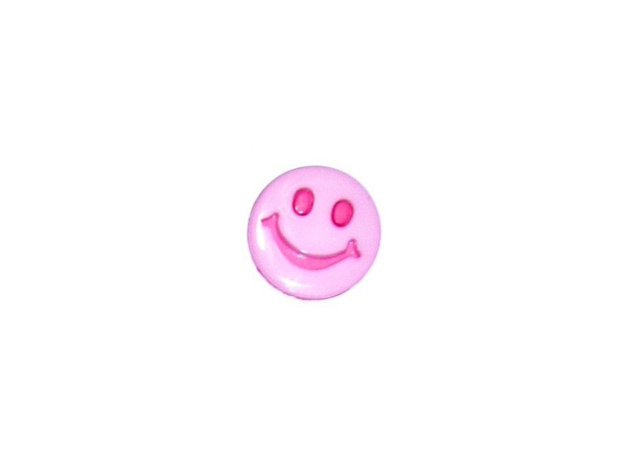 Guziczek dziecięcy uśmiech różowy