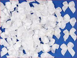 Kokardki satynowe białe