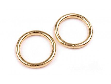 kółko metalowe 25 mm złote