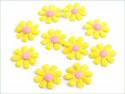 Aplikacja kwiatek żółty