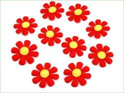 Aplikacja kwiatek czerwony