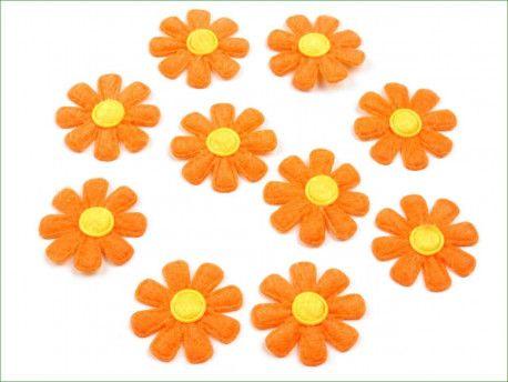 Aplikacja kwiatek pomarańczowy