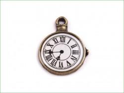 zawieszka metalowa zegar