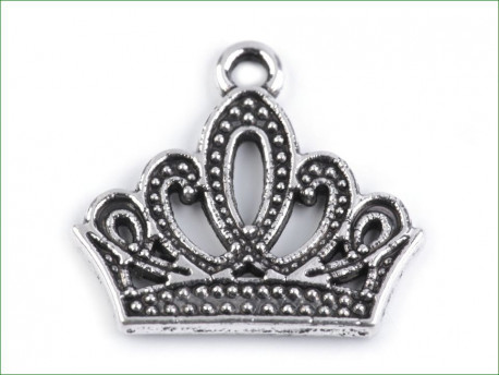 zawieszka metalowa korona