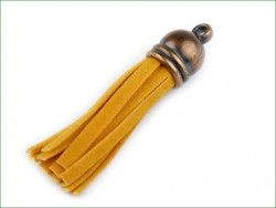 zawieszka frędzelek 48 z końcówką żółty