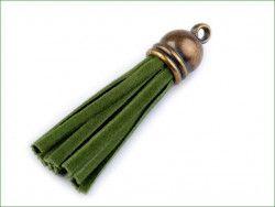 zawieszka frędzelek 48 z końcówką zielony
