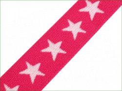 guma ozdobna gwiazdki różowa