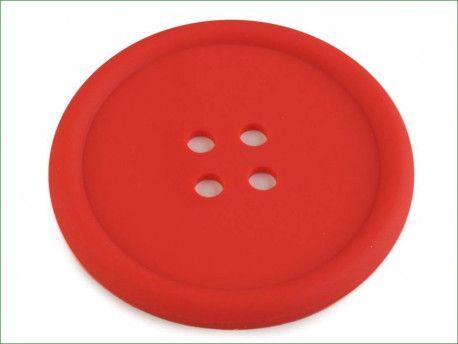guzik silikonowy-podkładka, ozdoba-czerwony