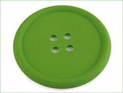 guzik silikonowy-podkładka, ozdoba-zielony