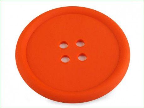 guzik silikonowy-podkładka, ozdoba-pomarańczowy