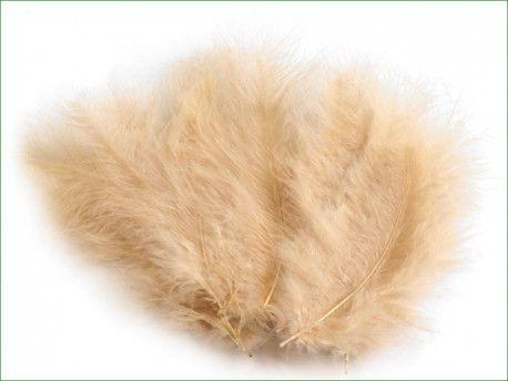 strusie pióra 12-17 cm beżowe