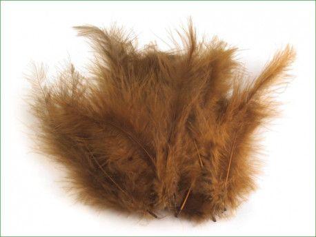 strusie pióra 12-17 cm brązowe