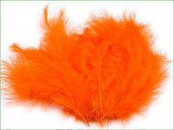 strusie pióra 9-16 cm pomarańczowe