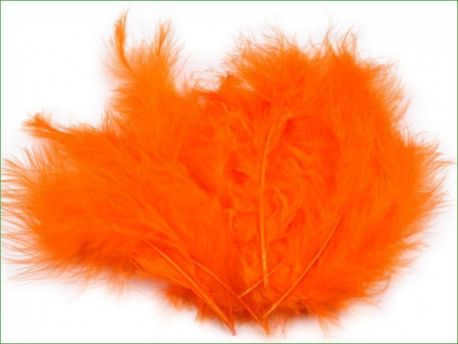 strusie pióra 12-17 cm pomarańczowe