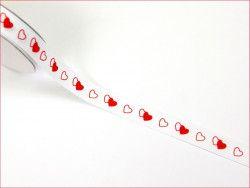 wstążka rypsowa serca