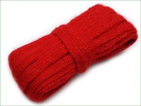 wstążka jutowa naturalna -10 m -czerwona
