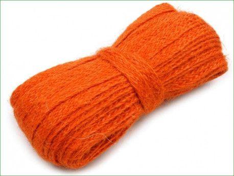 wstążka jutowa naturalna -10 m -pomarańczowa