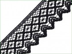 koronka bawełniana 68 mm czarna
