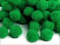 pomponiki 11-13mm 30 sztuk zielone