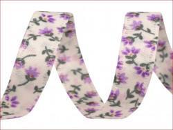 wstążka dwustronna kwiaty liliowe