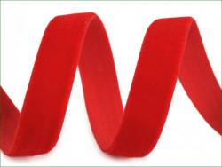 aksamitka 10 mm elastyczna, czerwona