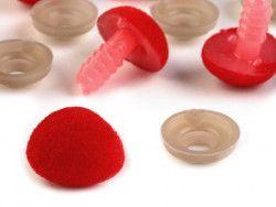 nosek do zabawek aksamitny czerwony