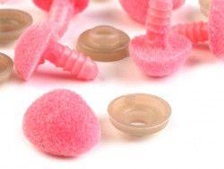 nosek do zabawek aksamitny różowy