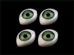 oczy do zabawek zielone