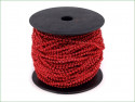koraliki na sznurku 3mm czerwone