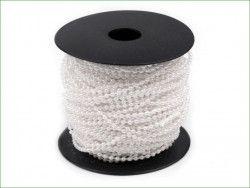 koraliki na sznurku 3mm białe perłowe