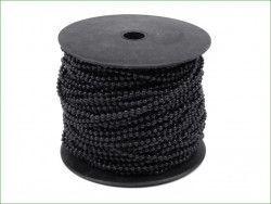 koraliki na sznurku 3mm czarne