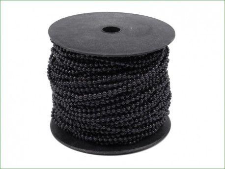 koraliki na sznurku czarne