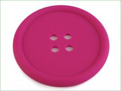 guzik silikonowy-podkładka, ozdoba-amarantowy