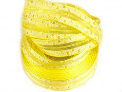 wstążka ozdobna z drutem żółta