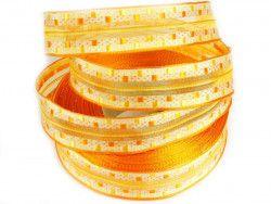 wstążka ozdobna z drutem pomarańczowa