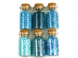 koraliki szklane rokail w butelce-mix13